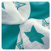 XKKO - Bambusové obrúsky 30x30 Turquoise Stars MIX (9ks)