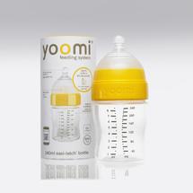 YOOMI - 240 ml dojčenská fľaša (bez ohrievača) + cumlík s pomalým prietokom