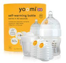 YOOMI - dojčenská fľaša, 2x ohrievač, cumlík a nádoba na ohrievač 5oz Bottle / 2 x Warmer / teat / Pod - Y15B2W1P