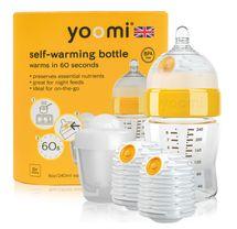 YOOMI - dojčenská fľaša, 2x ohrievač, cumlík a nádoba na ohrievač 8oz Bottle / 2 x Warmer / teat / Pod - Y18B2W1P