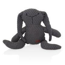 ZOPA - Pletená hračka zajac, Dark grey