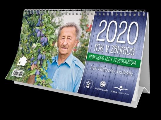 Rok v záhrade 2020 - stolový kalendár - Ivan Hričovský, Boris Horák