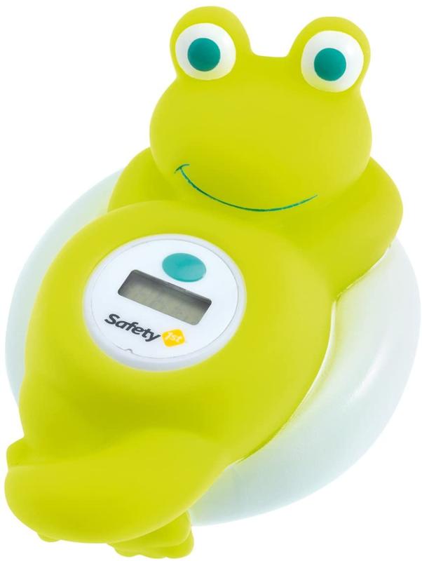 SAFETY 1ST - Digitálny teplomer do vane žaba White and Lime