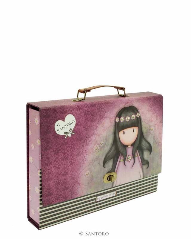 SANTORO - Gorjuss kufrík na dokumenty Oops a Daisy - A4