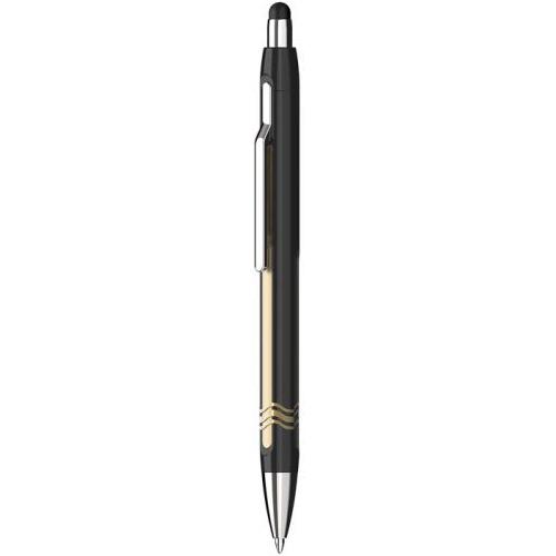 SCHNEIDER - Guľôčkové pero Epsilon Touch, black-gold 0,7 mm pre dotykové zariadenia
