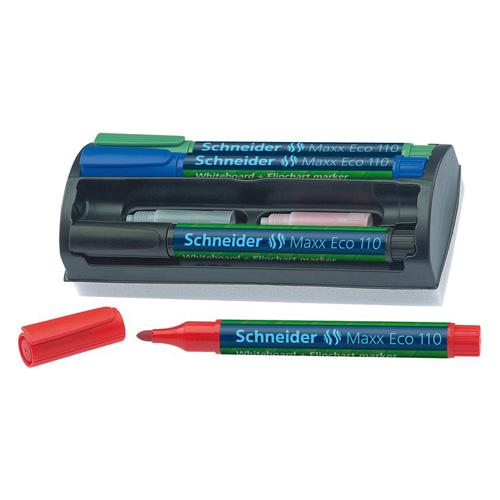 SCHNEIDER - Popisovač na tabule a flipchartové tabule, 1-3 mm, kuželový hrot, so stierkou,