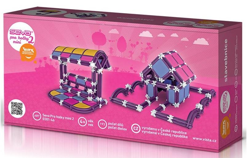 SEVA - Seva 2 Mini stavebnica pre dievčatá 193 dielikov