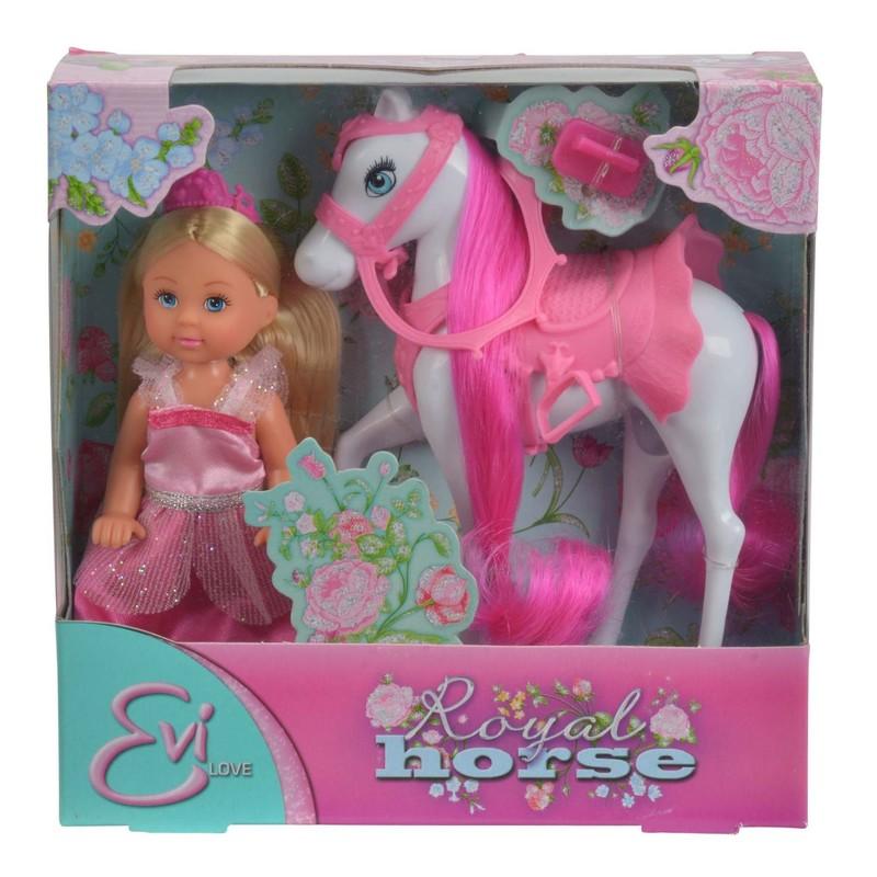 SIMBA - Bábika Evička Princezná s koňom