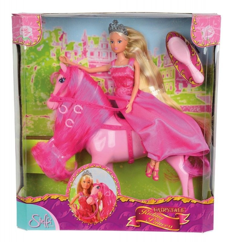 SIMBA - Bábika Steffi Princezná Na Koni