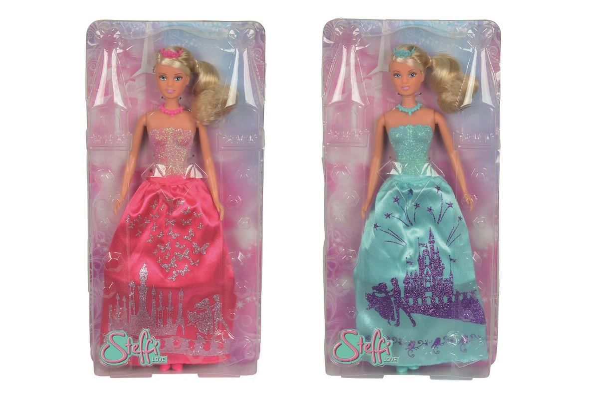 SIMBA - Bábika Steffi Princezná, Trblietavé Šaty, 2 Druhy