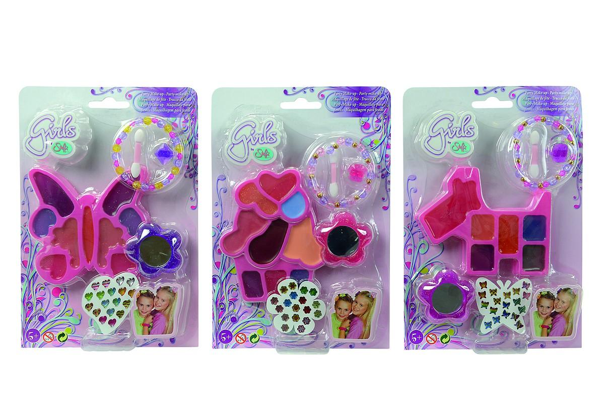 SIMBA - Líčidlá A Doplnky Pre Dievčatká, 3Druhy