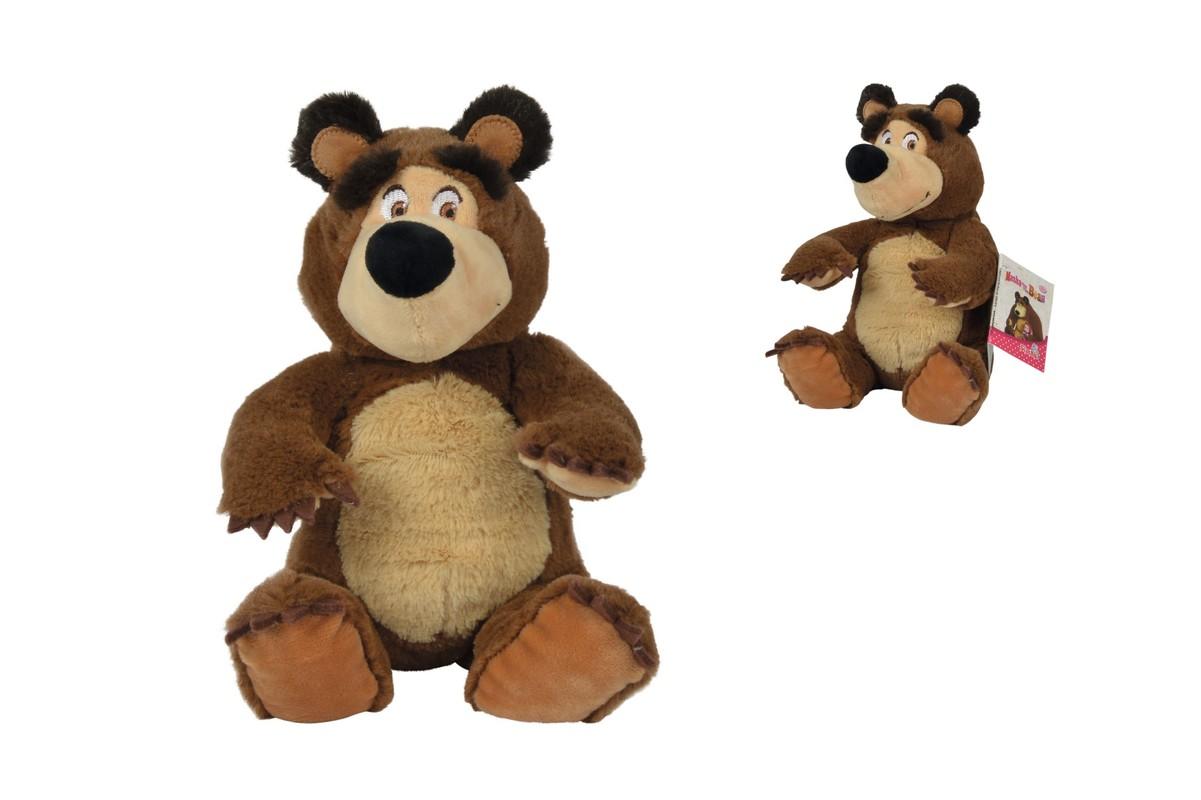 SIMBA - Máša a medveď Plyšový medveď 20cm, sediaci
