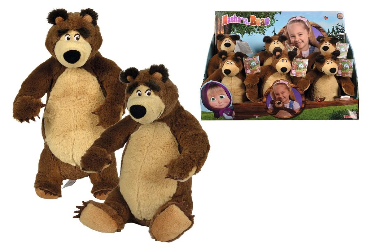 SIMBA - Máša A Medveď plyšový Medveď 25 cm (sediaci alebo stojaci)