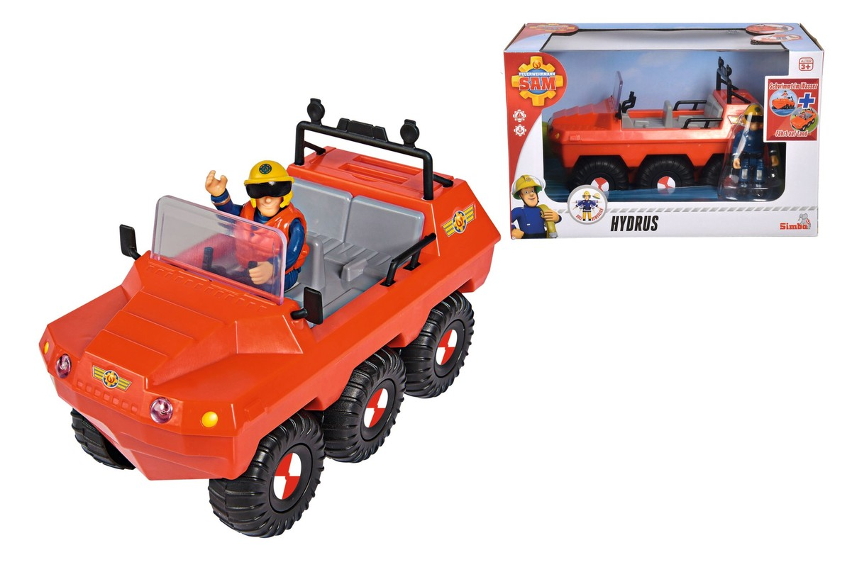 SIMBA - Požiarnik Sam Auto Hydrus S Figúrkou