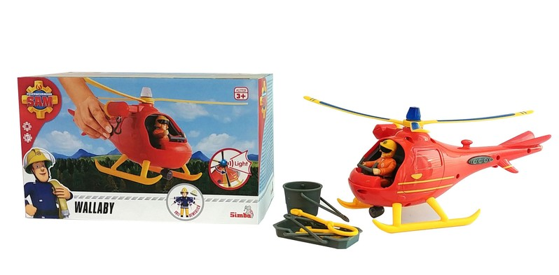SIMBA - Požiarnik Sam Vrtuľník s figúrkou