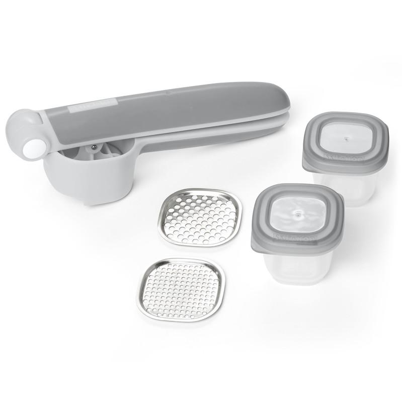 SKIP HOP - Set na prípravu jedla Easy Prep - lis s 2 nadstavcami a 2 nádobkami 60ml
