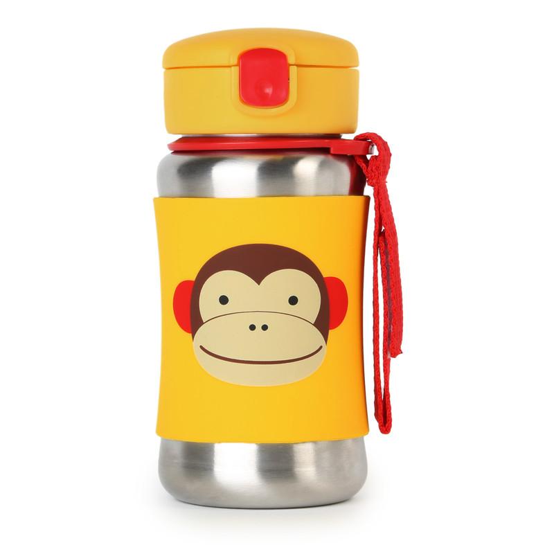 SKIP HOP - Zoo Fľaša na vodu, nerez - Opička