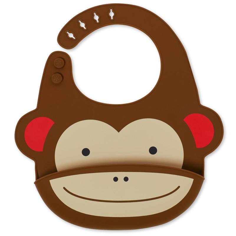 SKIP HOP - Zoo Podbradník silikónový Opička