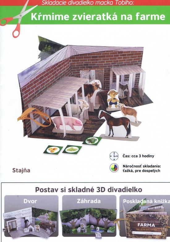 Skladacie divadielko macka Tobiho: Kŕmime zvieratká na farme - Petra Kabátová