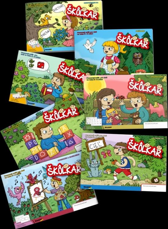 Škôlkar (kolekcia 7 pracovných zošitov) nové vydanie - Kolektív autorov