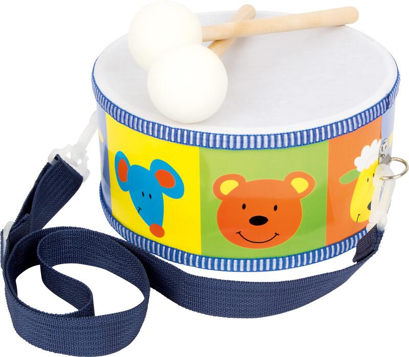 SMALL FOOT - Detské drevené hudobné nástroje bubon zvieratá