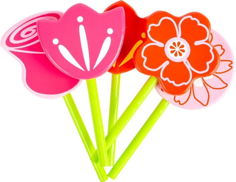 SMALL FOOT - Drevená kanvička a kvety