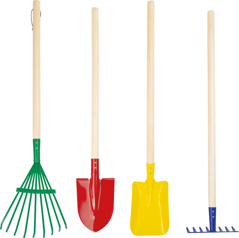 SMALL FOOT - Set farebného záhradného náradia