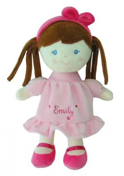 SMILY PLAY - Handrová bábika Emily s hnedými vláskami, 25 cm