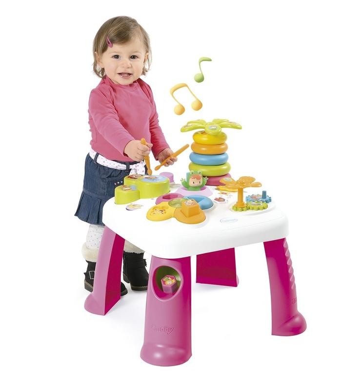 SMOBY - 211170 Cotoons multifunkčný stolík stolík so svetlom a zvukom, ružový