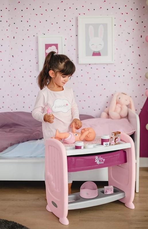 SMOBY - 220342 Postieľka a prebaľovací pult 2v1 Baby Nurse pre bábiku