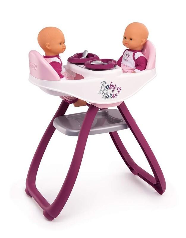 SMOBY - 220344 Stolička Baby Nurse na kŕmenie pre bábiky dvojičky