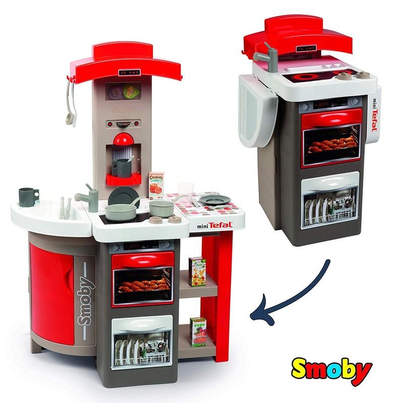 SMOBY - 312202 Kuchynka Tefal Opencook skladacia elektronická červená