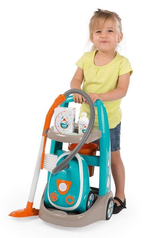 SMOBY - 330309 Upratovací vozík s vysávačom