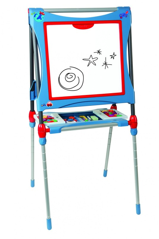 SMOBY - 410202 Magnetická obojstranná tabuľa Evolutif modrá