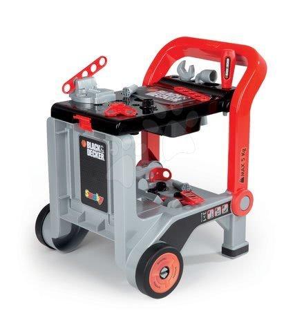 SMOBY - 500267 Pracovný vozík s náradím a 18 doplnkov Black&Decker