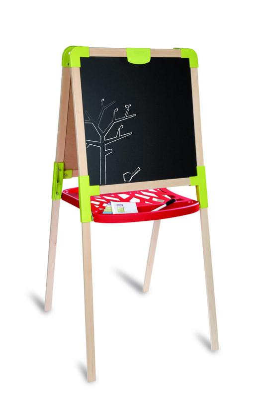 SMOBY - Drevená Tabuľa Na Kreslenie 2V1, Stojaca