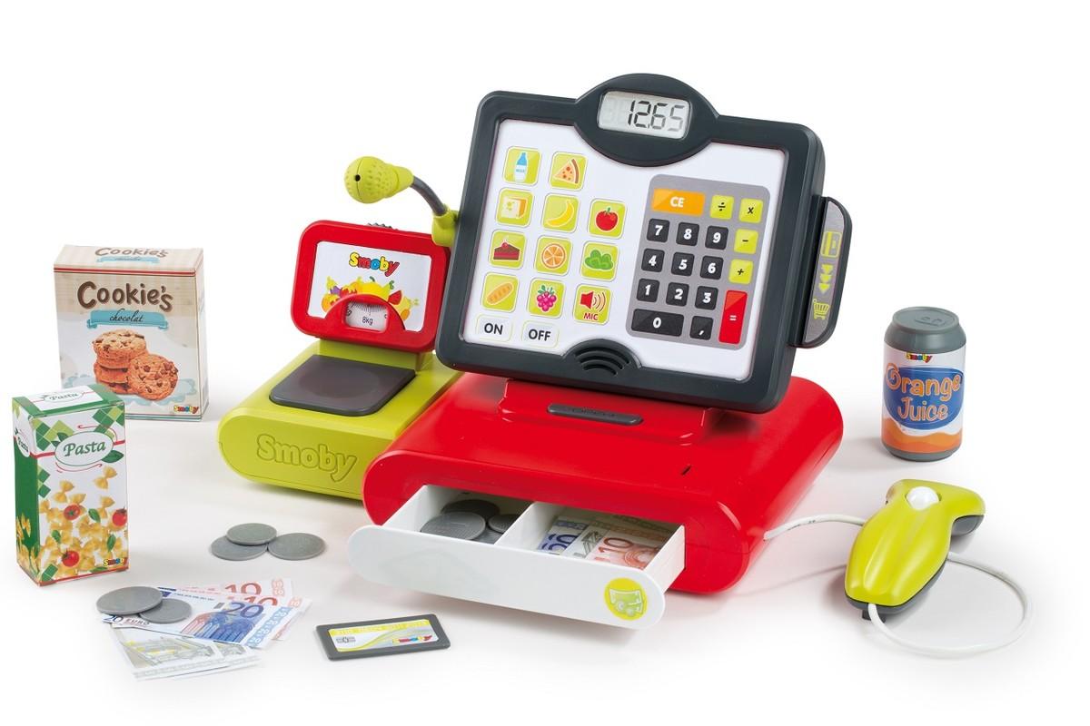 SMOBY - Elektronická pokladňa, dotykový panel