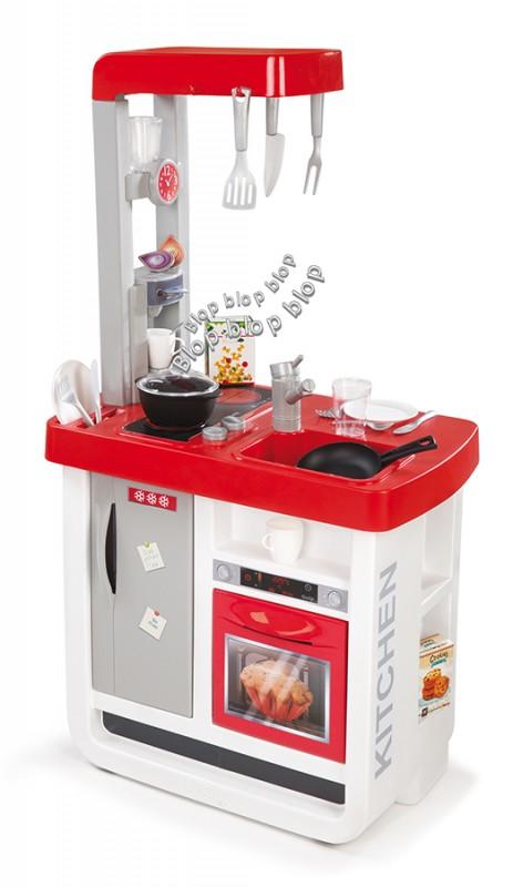 SMOBY - Kuchynka Bon Appetit elektronická, červeno-biela