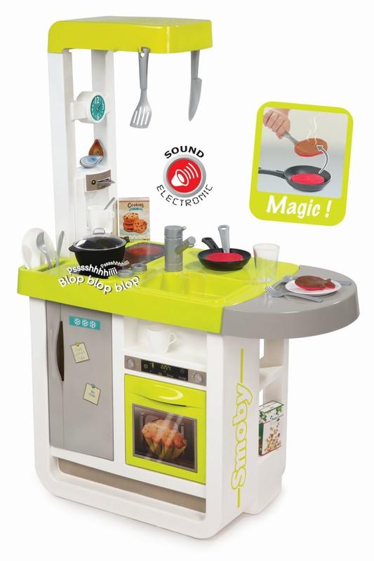 SMOBY - Kuchynka Bon Appetit zeleno-šedá elektronická
