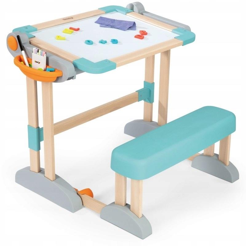 SMOBY - Magnetický písací stôl s lavicou 2v1 drevený