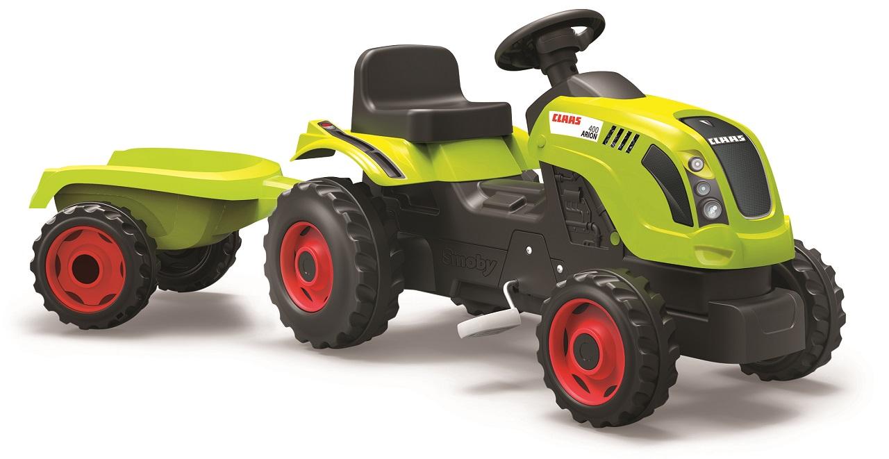 SMOBY - Šliapací Traktor Claas Zelený S Vozíkom