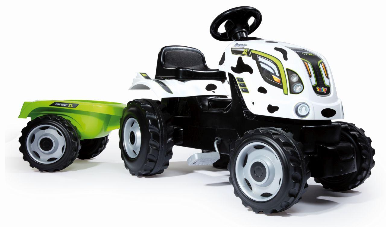 SMOBY - Šliapací Traktor Cow Farmer Xxl S Vozíkom