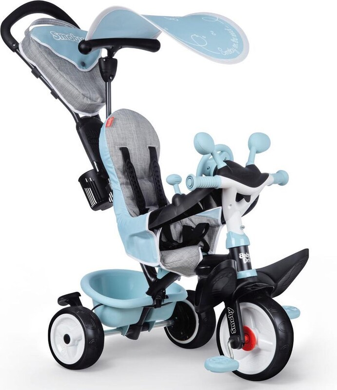 SMOBY - Trojkolka Baby Driver Plus modrá
