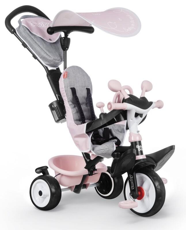 SMOBY - Trojkolka Baby Driver Plus ružová