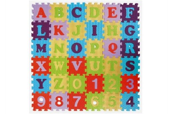 SMT CREATOYS - Penové puzzle abeceda a čísla - mix farieb