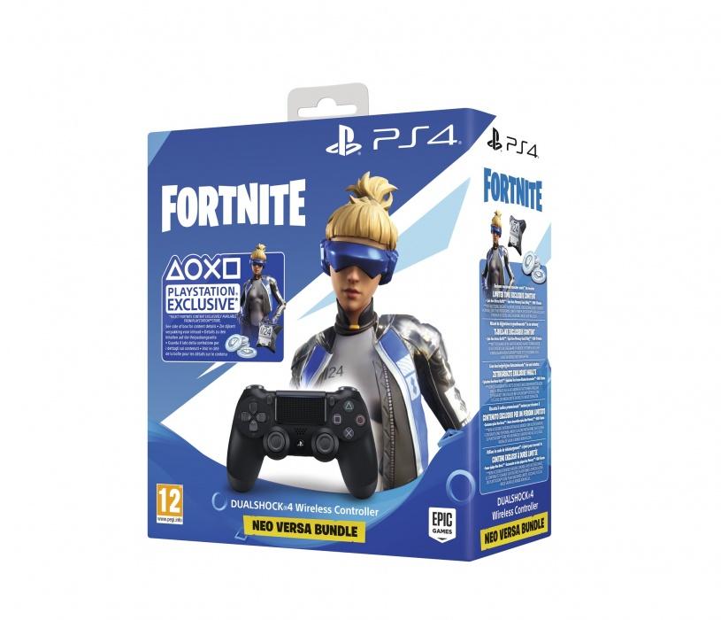 SONY - PS4 DualShock 4 Wireless Cont. V2 Black + Fortnite, Herný ovládač pre PlayStation 4 s exkluzívnym obsahom do hry Fortnite
