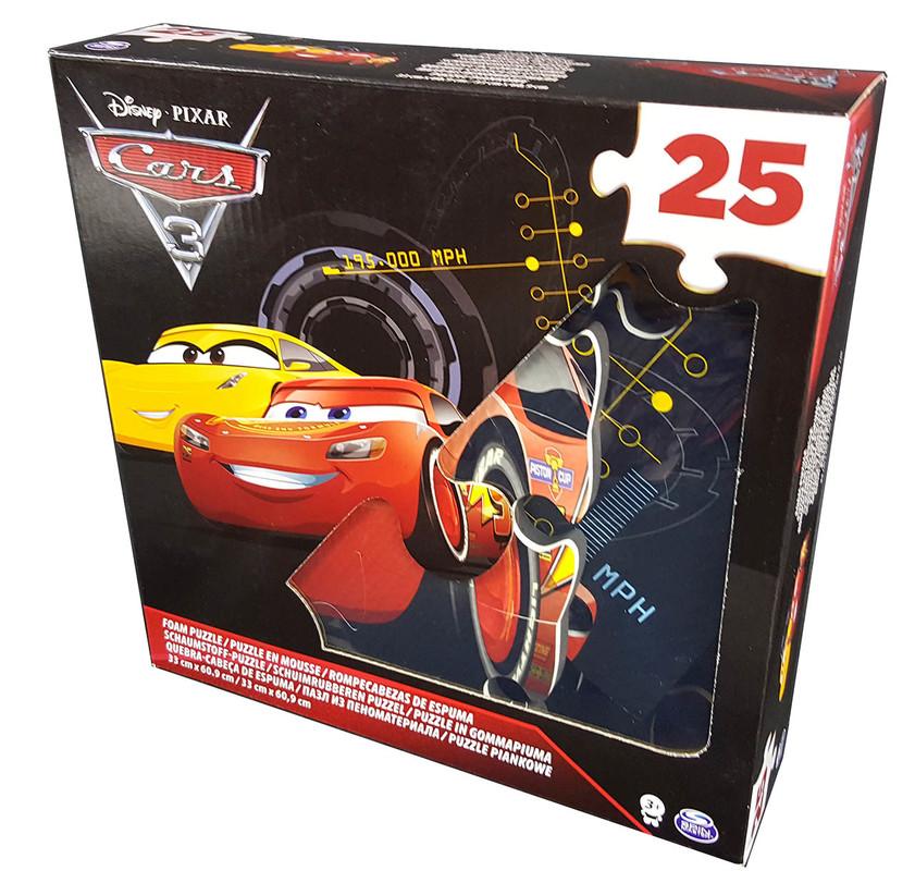 SPIN - Cars 3 Penové Puzzle 25Ks
