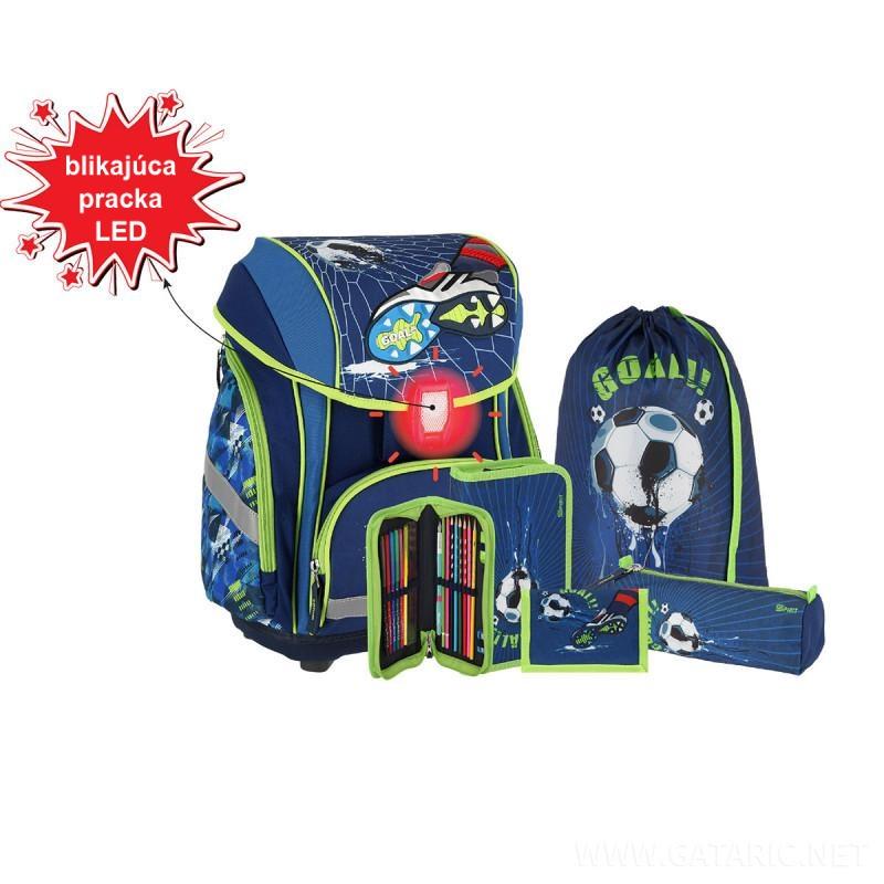 SPIRIT - Školská taška - 5-dielny set, SMART 3D Football Goal, LED