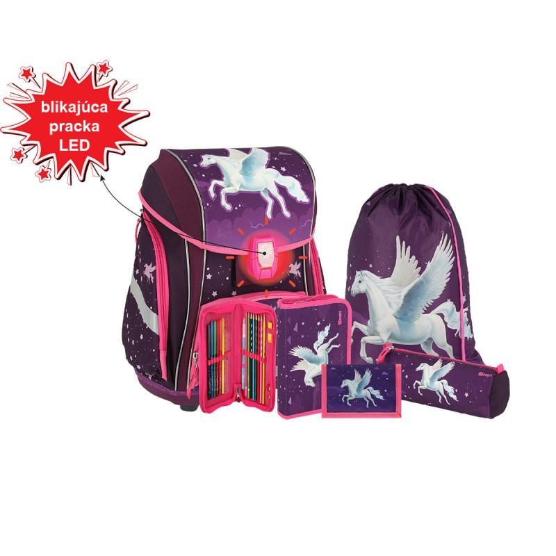 SPIRIT - Školská taška - 5-dielny set, SMART 3D Pegasus, LED