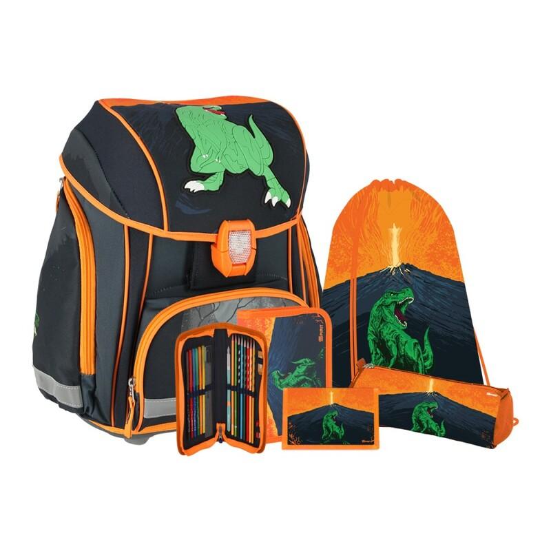 SPIRIT - Školská taška - 5-dielny set, SMART T-Rex 3D
